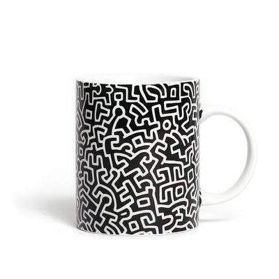 Keith Haring Limoges Porcelain Mug - Black