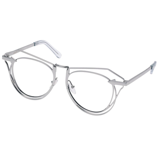 Silver Metals Clear Marguerite Glasses