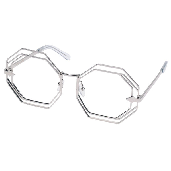 Silver Metals Clear Emmanuel Glasses