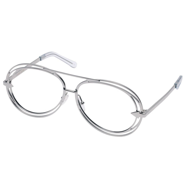 Silver Metals Clear Jacques Glasses