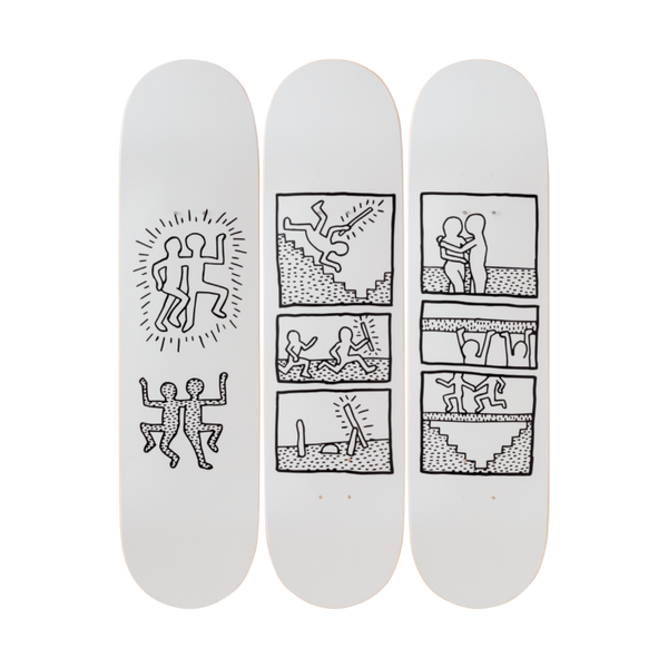Keith Haring  - Untitled 1981 Skateboard Set