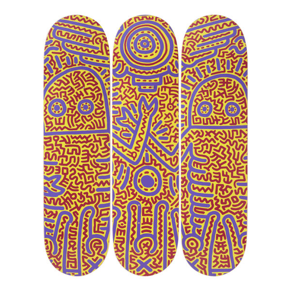 Keith Haring  - Untitled 1984 Skateboard Set