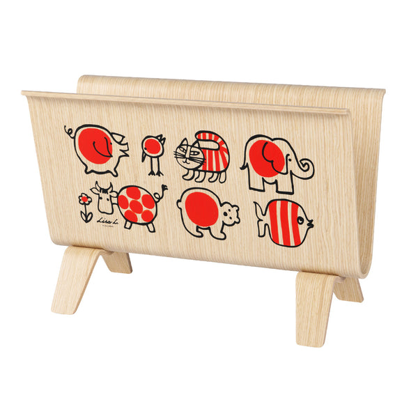 "Sync x Lisa Larson Magazine Rack ""Baby Mikey and Friends"" by Saito Wood"