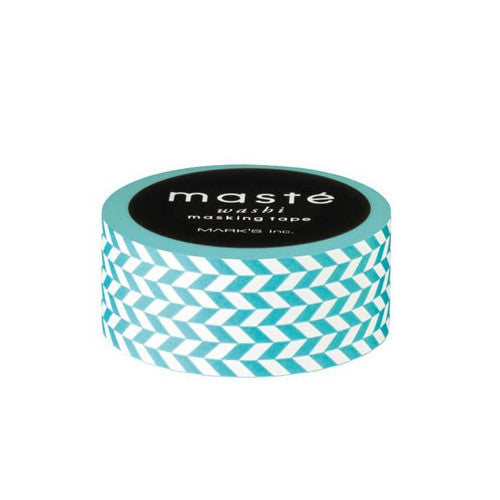 Turquoise Checkered Pattern Masking Tape