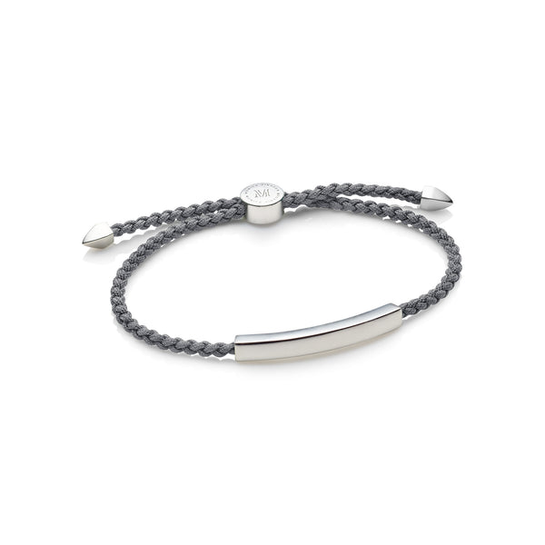 Steel Grey Linear Men's Sterling Silver Bracelet