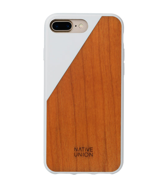 White CLIC Wooden iPhone 7 Plus Case