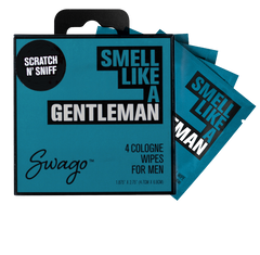 Gentlemen Scent Cologne 4-Pack Wipes