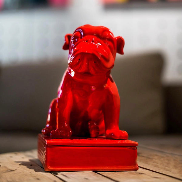 RED ENGLISH BULLDOG INCENSE CHAMBER