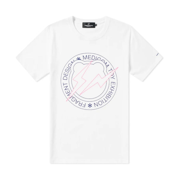 FRAGMENT DESIGN X BE@RTEE CIRCLE LOGO T-SHIRT - WHITE