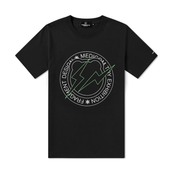 FRAGMENT DESIGN X BE@RTEE CIRCLE LOGO T-SHIRT - BLACK