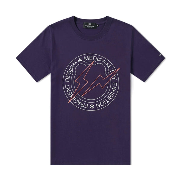 FRAGMENT DESIGN X BE@RTEE CIRCLE LOGO T-SHIRT - NAVY