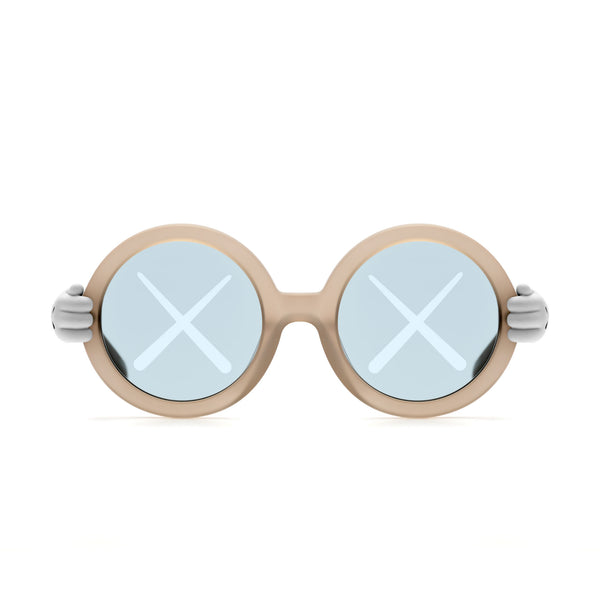 KAWS x Sons + Daughters Sunglasses - Grey color