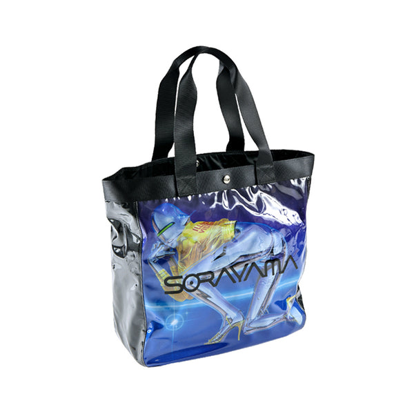 "Sync x Sorayama Vinyl Tote Bag ""Sexy Robot"" made by PORTER - Navy"