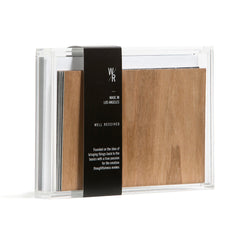 Real Wood Textured Cards (Acrylic Box Set of 8)