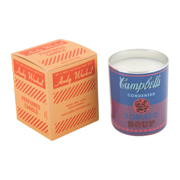 Andy Warhol Campbell Perfumed Candle - Blue / Purple