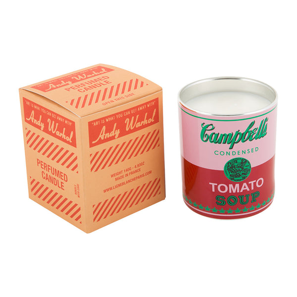 Andy Warhol Campbell Perfumed Candle - Pink / Red