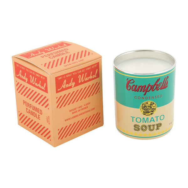 Andy Warhol Campbell Perfumed Candle - Turquoise / Yellow