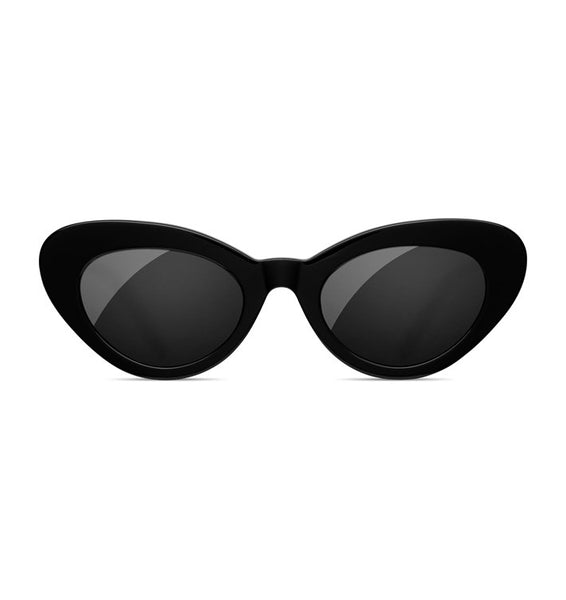 SUNDAE SCHOOL - TIGER ROUND BLACK SUNGLASSES