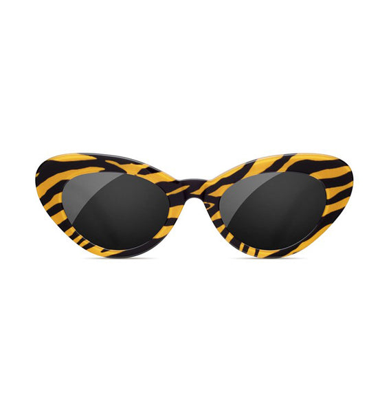 SUNDAE SCHOOL - TIGER ROUND STRIPE SUNGLASSES