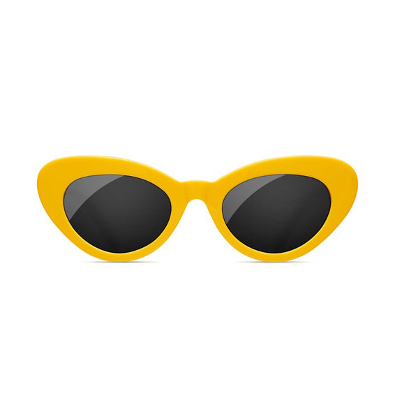 SUNDAE SCHOOL - TIGER ROUND YELLOW SUNGLASSES