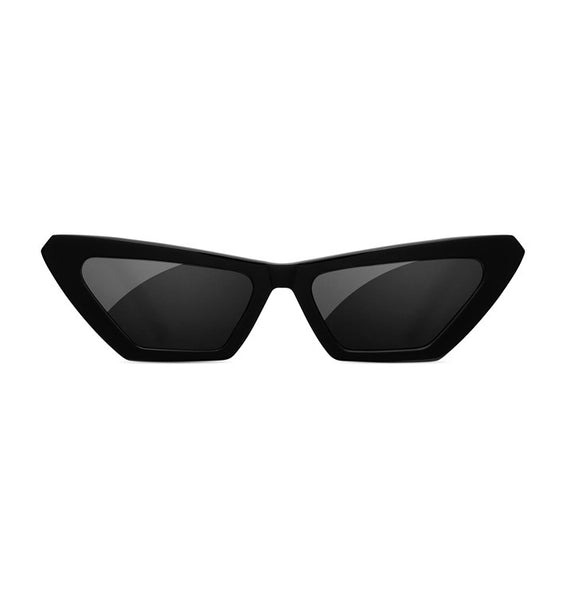 SUNDAE SCHOOL - TIGER SQUARE BLACK SUNGLASSES