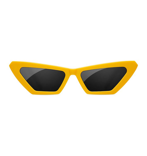 SUNDAE SCHOOL - TIGER SQUARE YELLOW SUNGLASSES