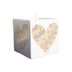 Keith Haring Perfumed Candle - Gold Pattern Heart