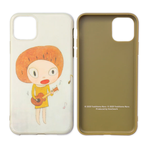 Yoshitomo Nara Apple iPhone 11 Pro Max Case - Guitar Girl/Cheer up! YOSHINO!
