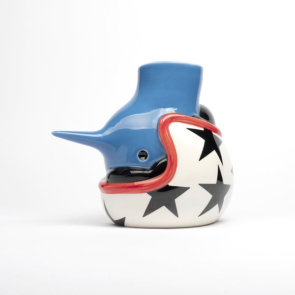 "The Upside Down ""Helmet"" Face Vase by Parra"