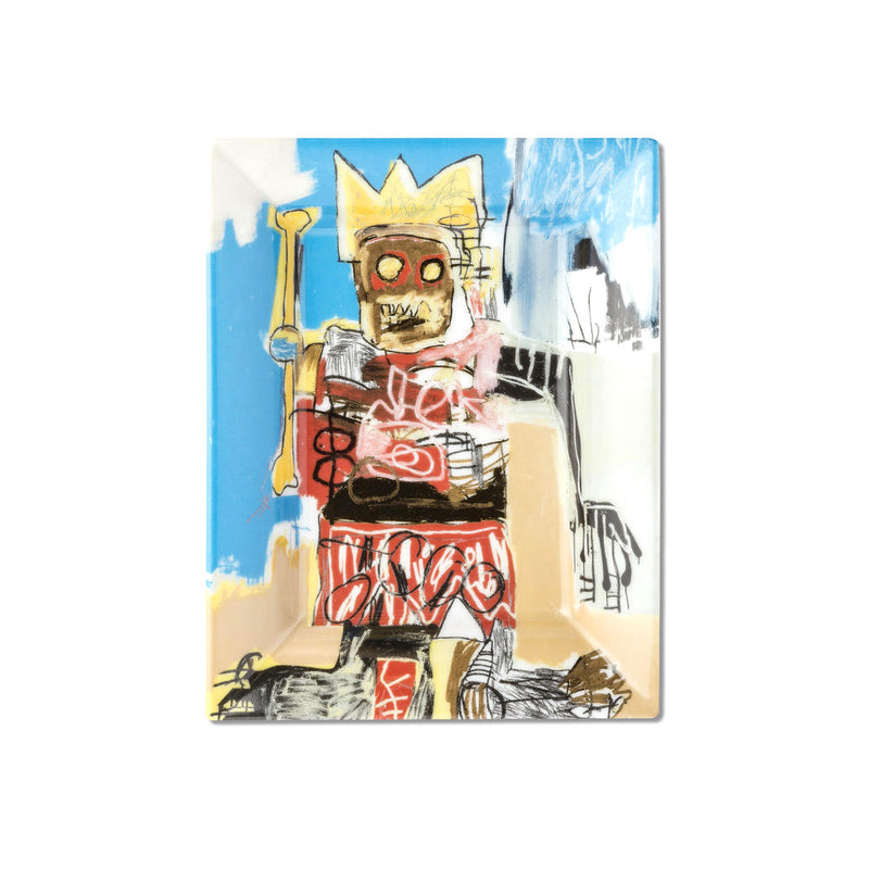 Jean-Michel Basquiat Limoges Porcelain Tray - Yellow Crown & Bone