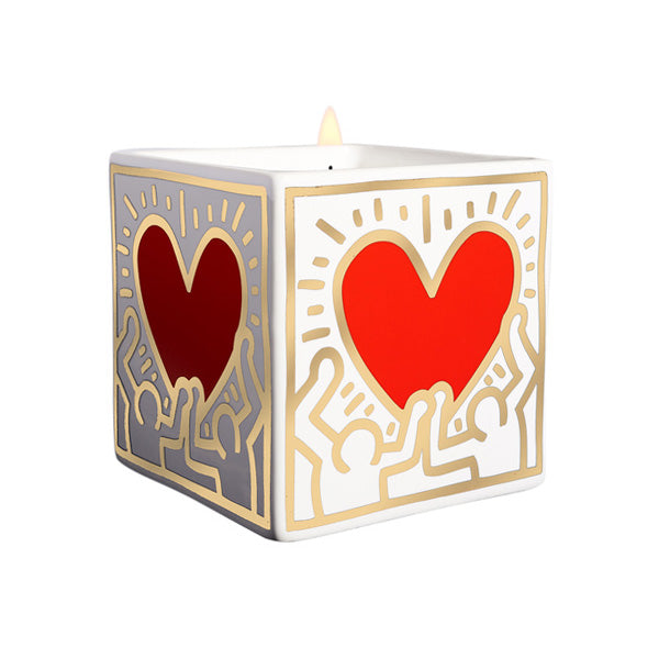 Keith Haring Perfumed Candle - Red Heart with Gold