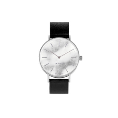 WM112 White Marble Stainless Steel Elemental Watch
