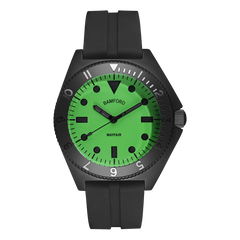 MAYFAIR MATTE BLACK/NEON GREEN – RUBBER