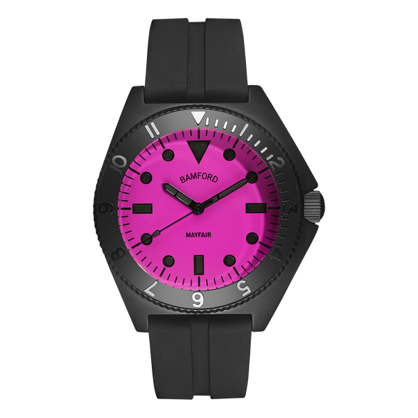 MAYFAIR MATTE BLACK/NEON PINK – RUBBER