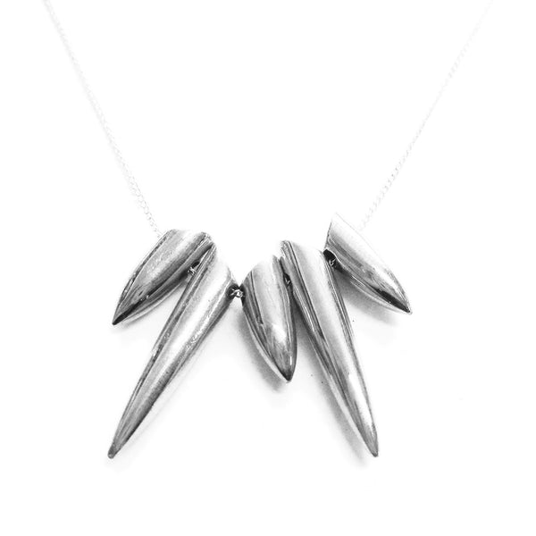 Silver Tusk Necklace