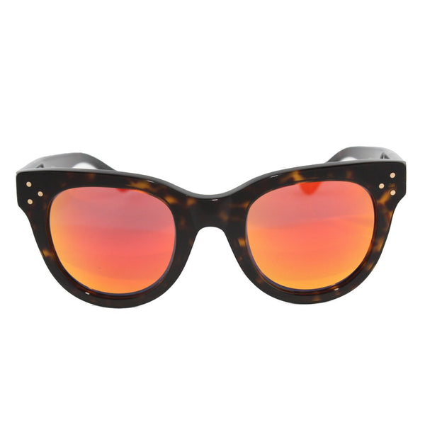 Havana Dark/Orange Mirror She Loves You Sunglasses
