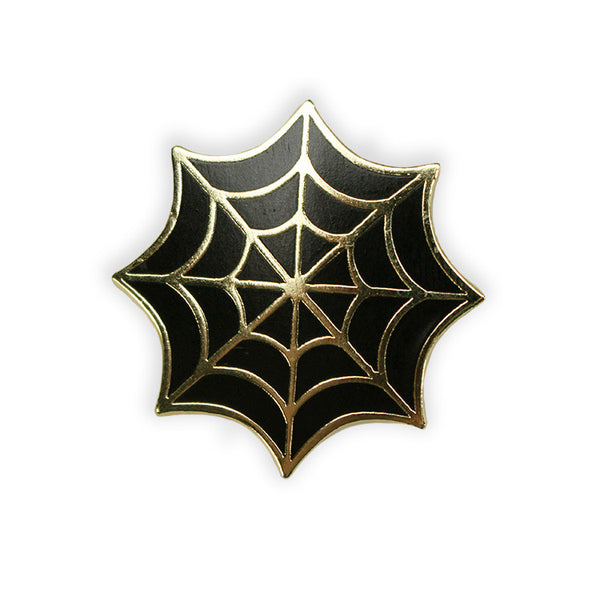 Spider Web Enamel Pin