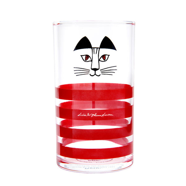 "Sync x Lisa Larson Tumbler Glass ""Mimi"" - Red"