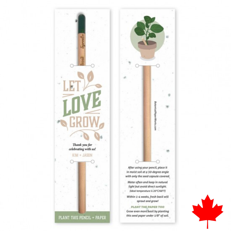 Plantable pencil with seed paper backer