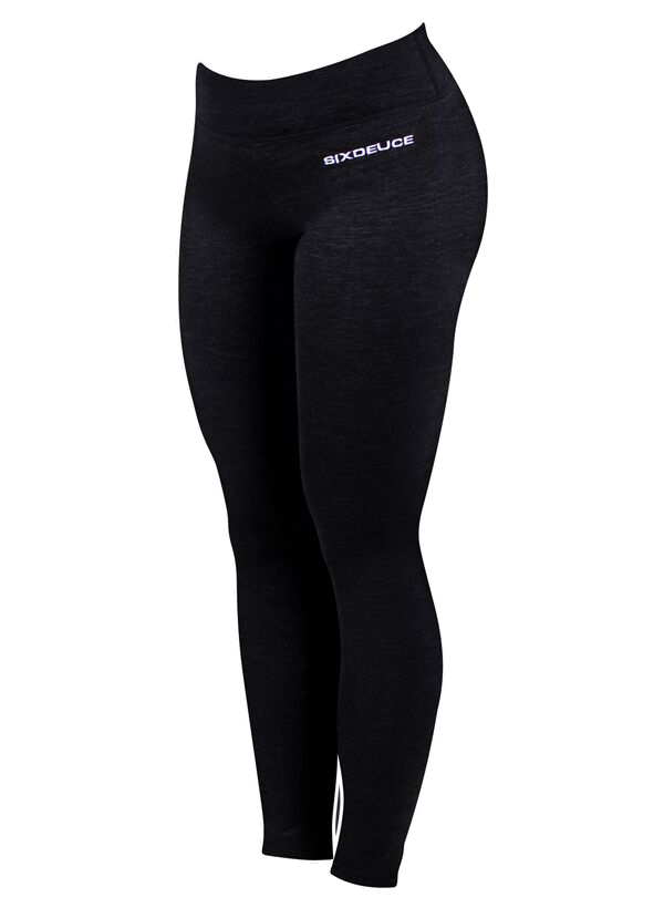 Six Deuce Rough Black Melange Leggings