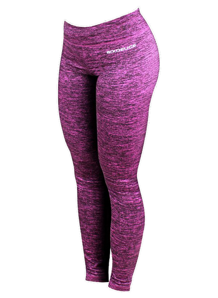 Six Deuce Rough Pink Melange Leggings