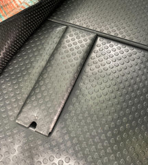 New and improved OEM flooring wrapped latch covers