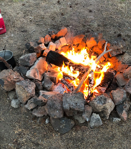 time to light a camp fire