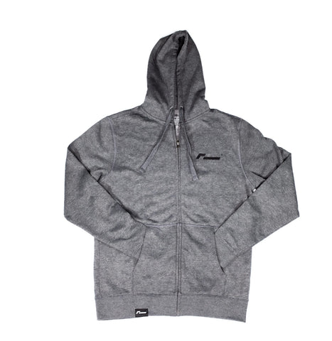 Racingline Grey Zip-Up Hoodie