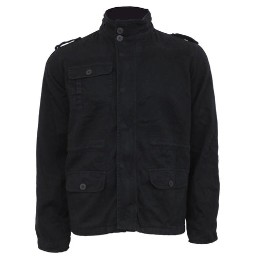 URBAN FASHION - Military Lined Jacket with Hidden Hood