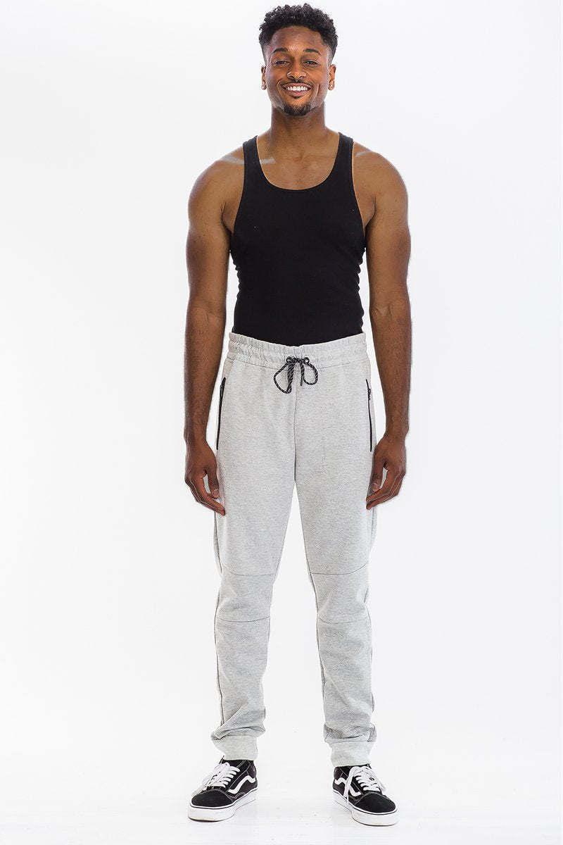 HEATHERED COTTON SWEATS