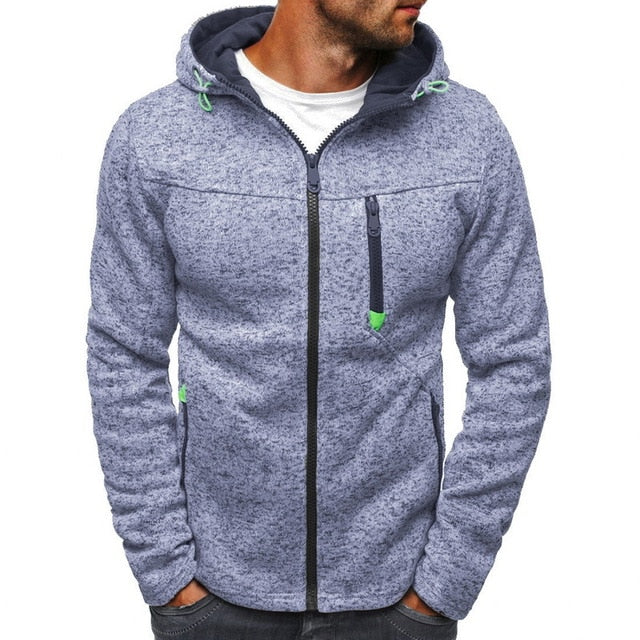 2020 Autumn Winter Men's Sweatshirts Jacquard Hoodies Sweatshirts Zipper Men's Hoodies Streetwear Men Hooded Coat