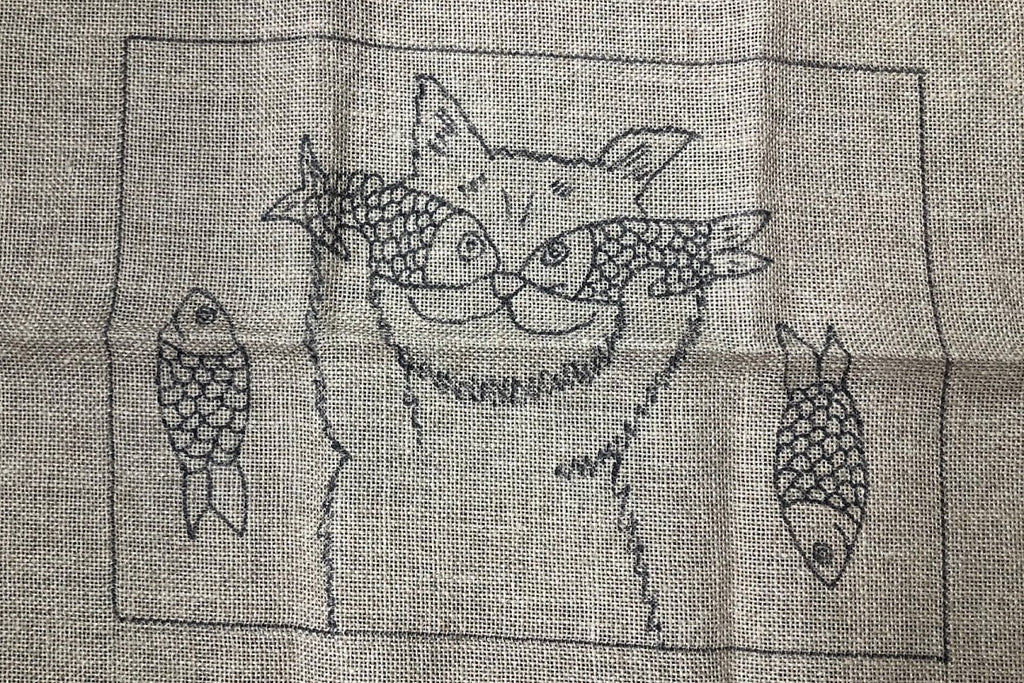 Catfish, Rug Hooking Pattern