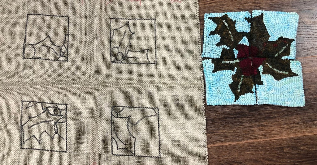 Holy Mug Rugs, Rug Hooking Pattern