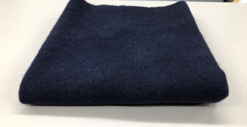 Lynne's Navy, Wool Fabric